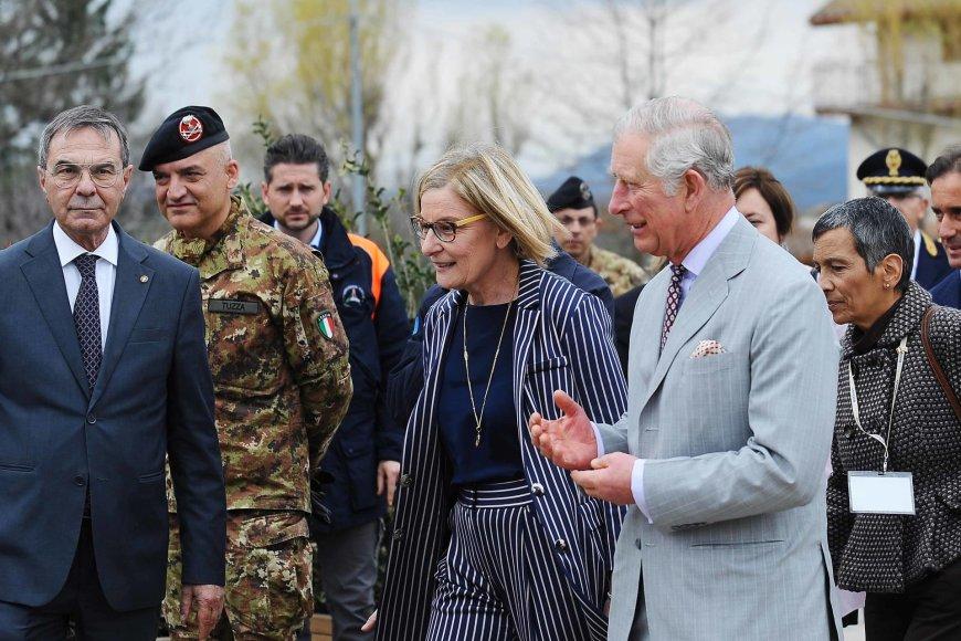 """""""Scanpix"""" nuotr./Princas Charlesas viešėjo Italijoje"""
