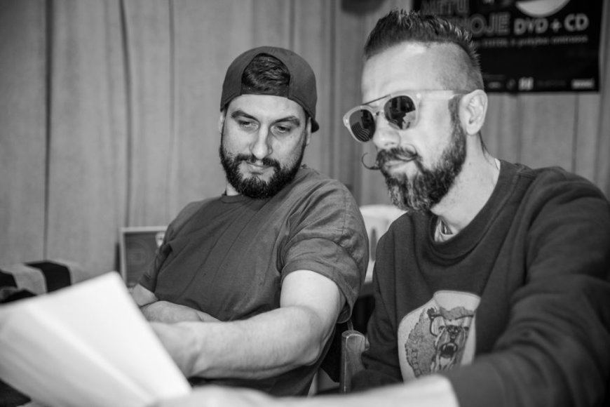 Asmeninio albumo nuotr./Pushaz ir Linas Adomaitis