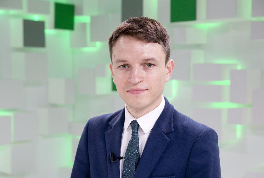 Valdo Kopūsto / 15min nuotr./Politologas Linas Kojala