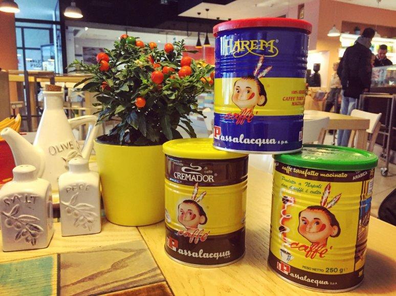 Partnerio nuotr./Skirtingų rūšių Passalacqua kava