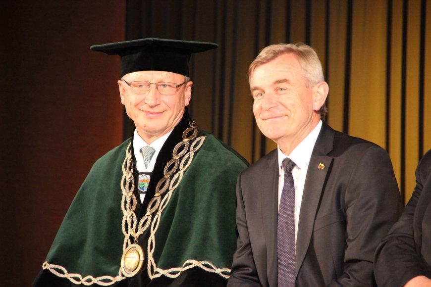 Projekto partnerio nuotr./Seimo pirmininkas ir rektorius A.Mazilaiuskas