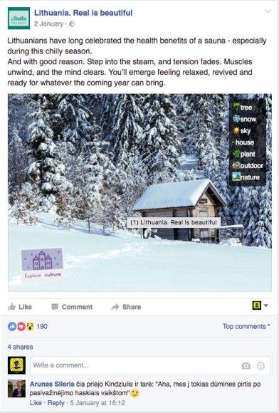 15min nuotr./Suomiška sauna reklamuoja ir Lietuvą