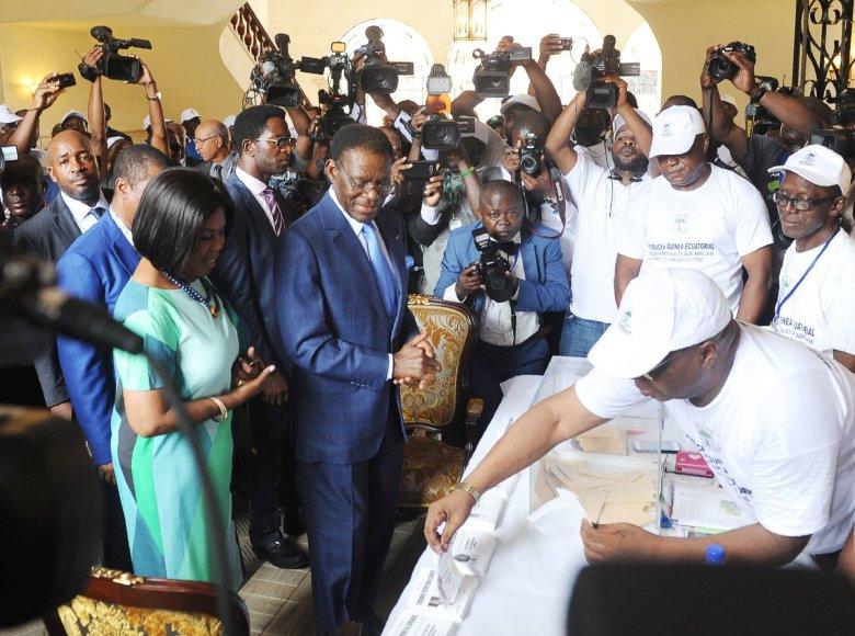 """""""Scanpix"""" / AFP nuotr./Teodoro Obiangas šiemet laimėjo eilinius prezidento rinkimus"""