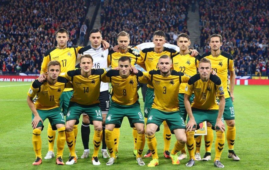 Sauliaus Čirbos/LFF nuotr./Lietuvos futbolo rinktinė