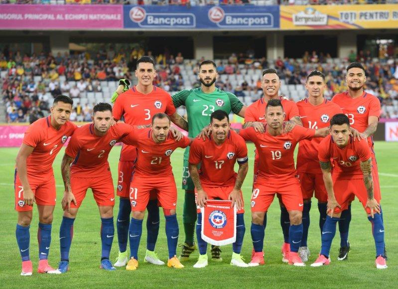 """AFP/""""Scanpix"""" nuotr./Čilės futbolo rinktinė"""