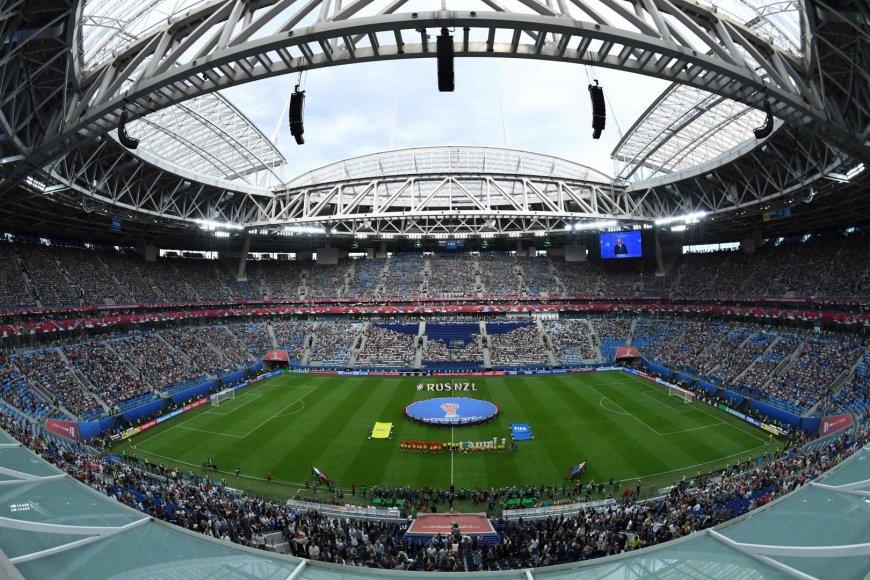 """AFP/""""Scanpix"""" nuotr./Sankt Peterburgo """"Krestovskij"""" stadionas"""