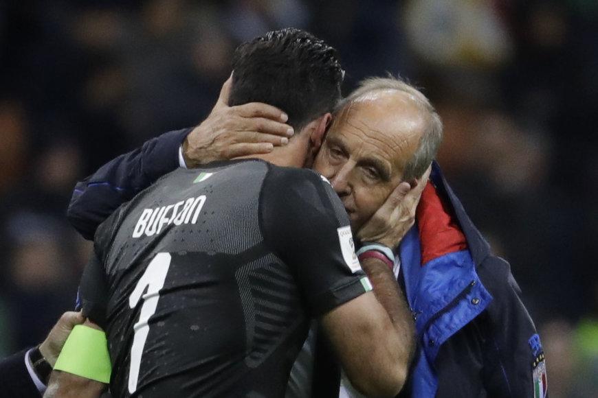 """""""Scanpix""""/AP nuotr./Gianluigi Buffonas ir Gian Piero Ventura"""