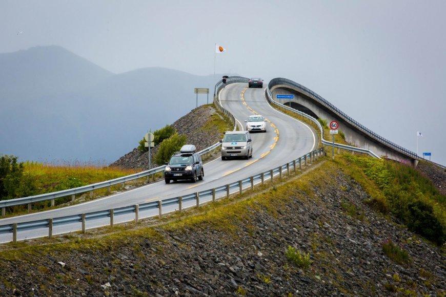 Vidmanto Balkūno / 15min nuotr./Atlanto kelias Norvegijoje