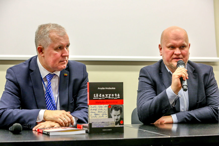 Vidmanto Balkūno / 15min nuotr./Arvydas Anušauskas ir Aleksandras Matonis
