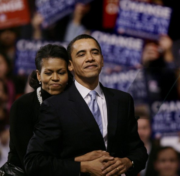 """Scanpix""/AP nuotr./Barackas Obama su žmona Michelle"