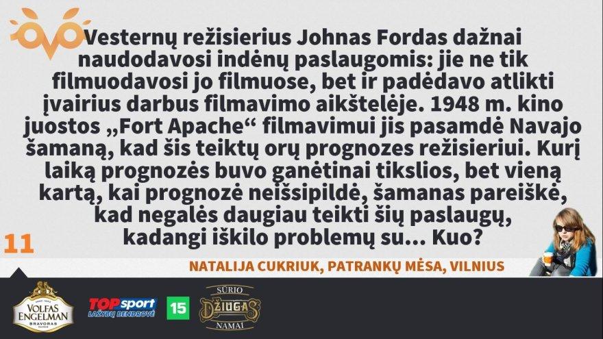 """Organizatorių nuotr./""""Protų kovos"""" su Robertu Petrausku 2 klausimas"""