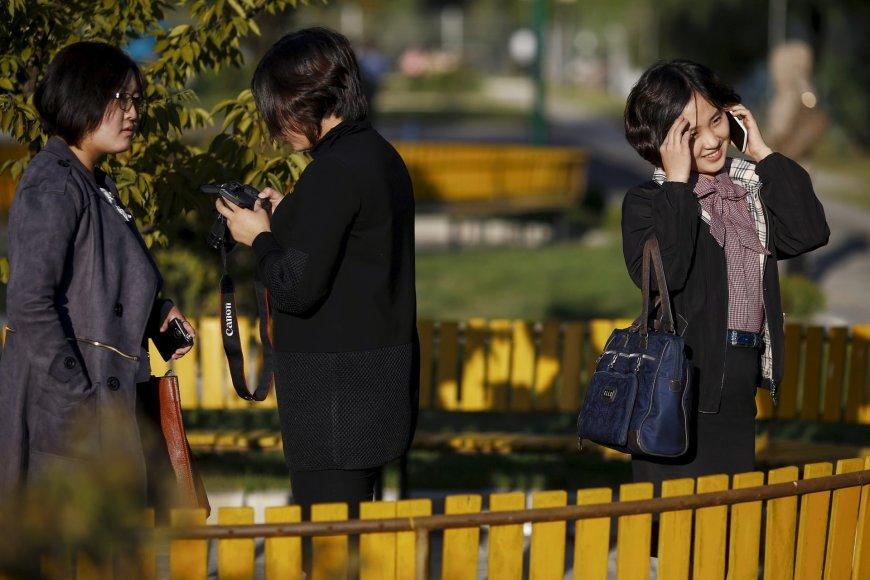 """""""Reuters""""/""""Scanpix"""" nuotr./Šiaurės Korėjos sostinės kintanti ekonomika"""