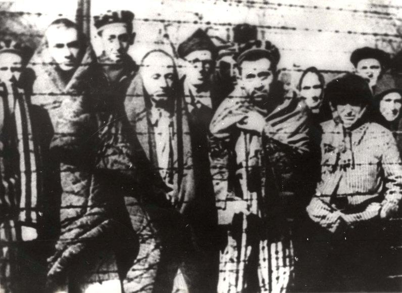"""""""Reuters""""/""""Scanpix"""" nuotr./Kaliniai, išlaisvinti iš Aušvico koncentracijos stovyklos"""