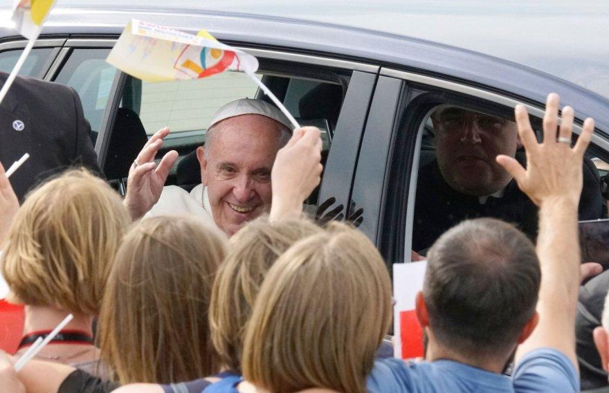 """AFP/""""Scanpix"""" nuotr./Popiežiaus Pranciškaus vizitas Lenkijoje"""