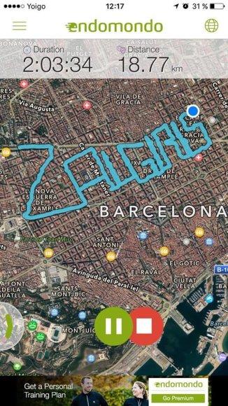 """""""Žalgirio"""" trasa Barselonoje"""