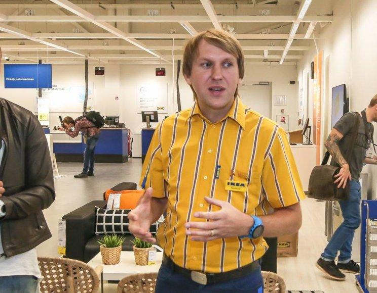 Beno Dragūno nuotr./IKEA parduotuvės vadovas Marius Martinaitis