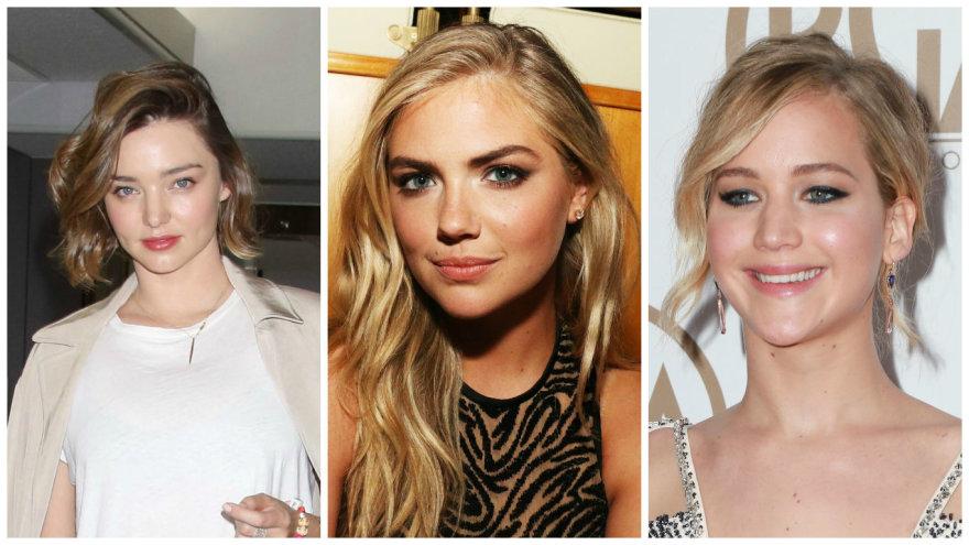 Vida Press nuotr./Miranda Kerr, Kate Upton, Jennifer Lawrence