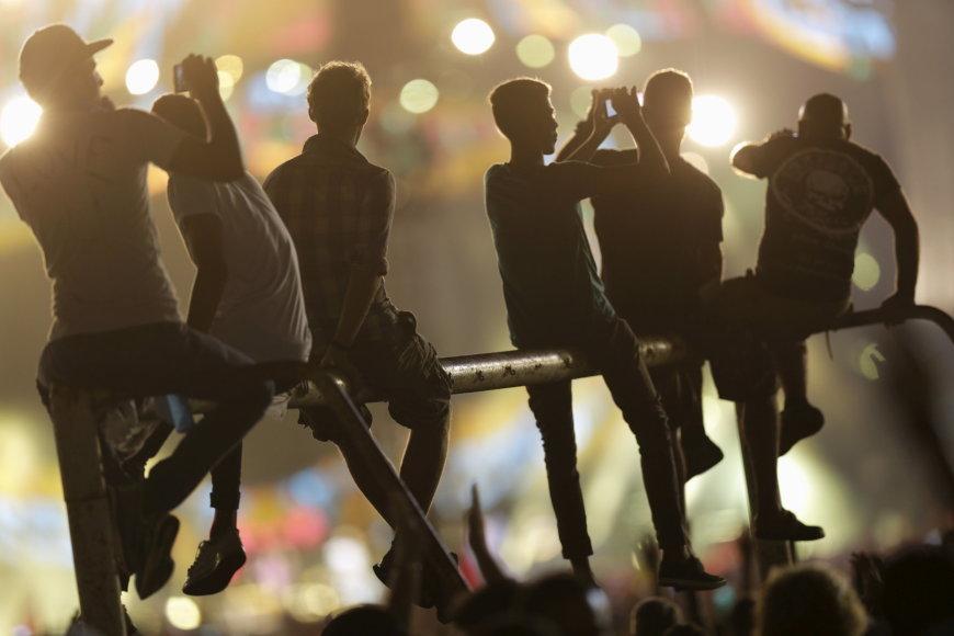 "Scanpix nuotr./""The Rolling Stones"" koncerto akimirka"