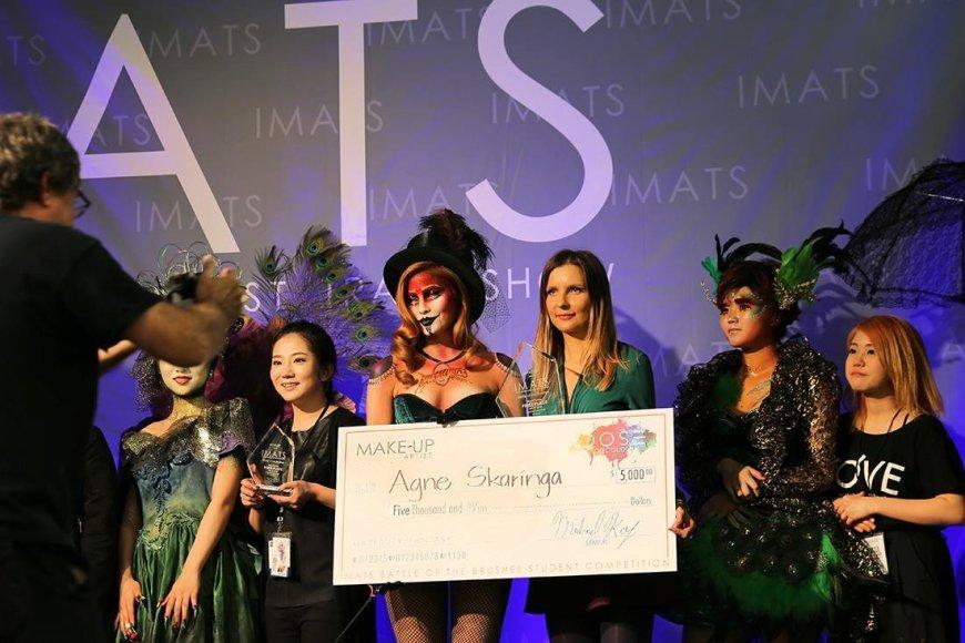 """Asmeninio albumo nuotr./Agnė Skaringa """"International Make-up Artist Trade Show"""" renginyje"""