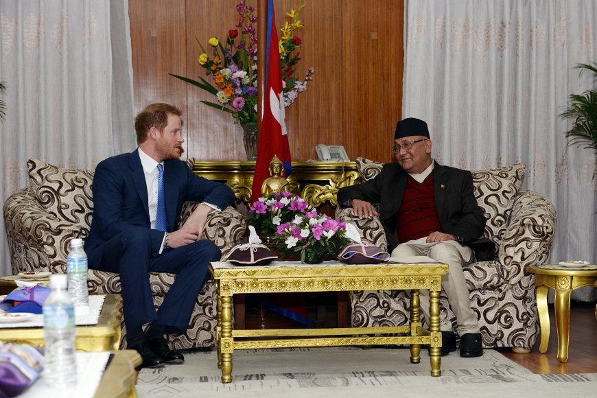 Scanpix nuotr./Princas Harry apsilankė Nepale