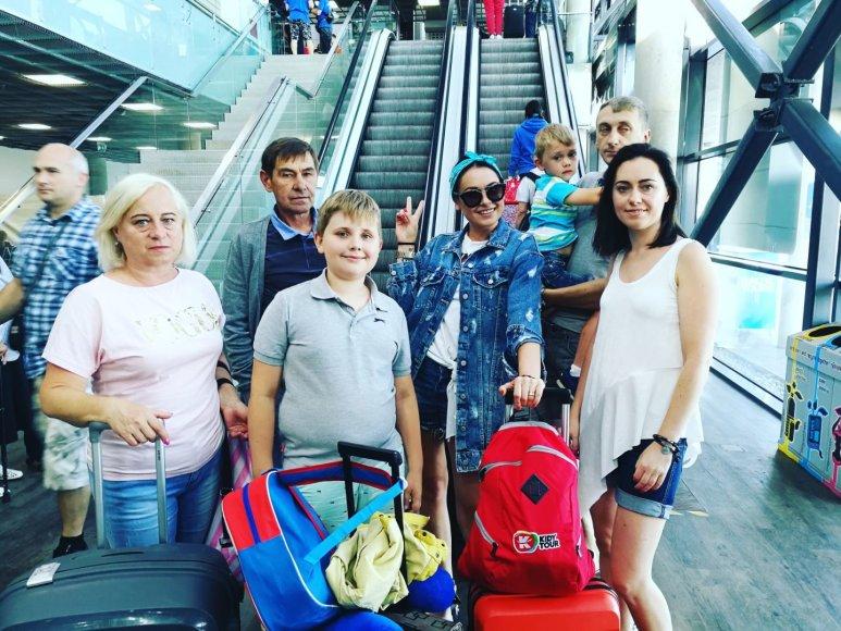 Asmeninė nuotr./Simonos Nainės šeimos atostogų Turkijoje akimirka