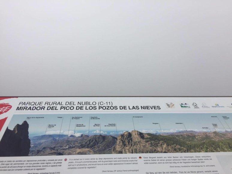Vaizdas nuo aukščiausios Gran Kanarijos viršūnės
