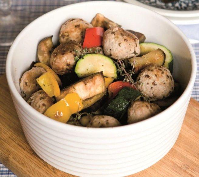 Veršienos kukuliai su daržovėmis