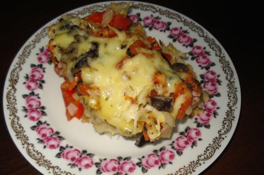 Bulvių pica su grybais