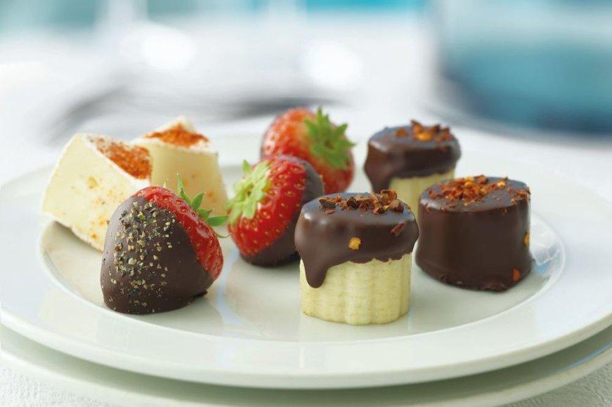 Šokoladiniai vaisiai