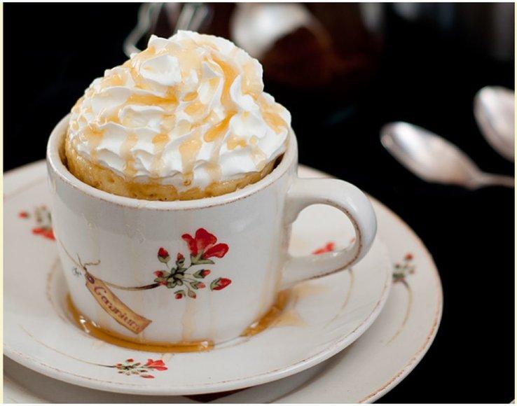 Vanilinis pyragėlis puodelyje