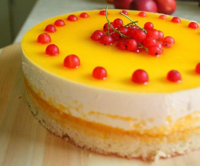 Persikinis maskarponės tortas