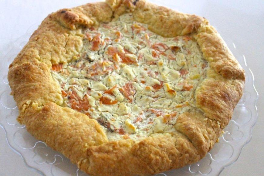 Lašišos ir kreminio sūrio pyragas