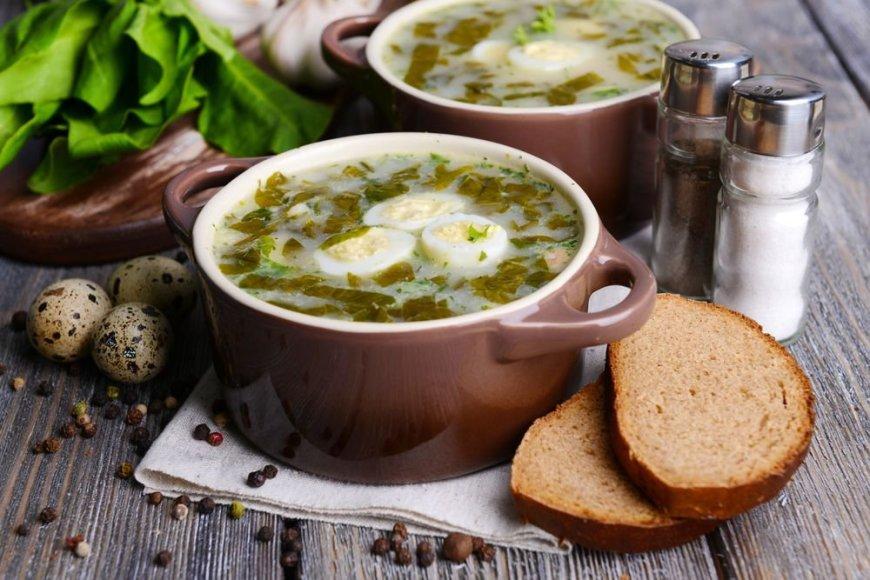 Rūgštynių sriuba su kukulaičiais