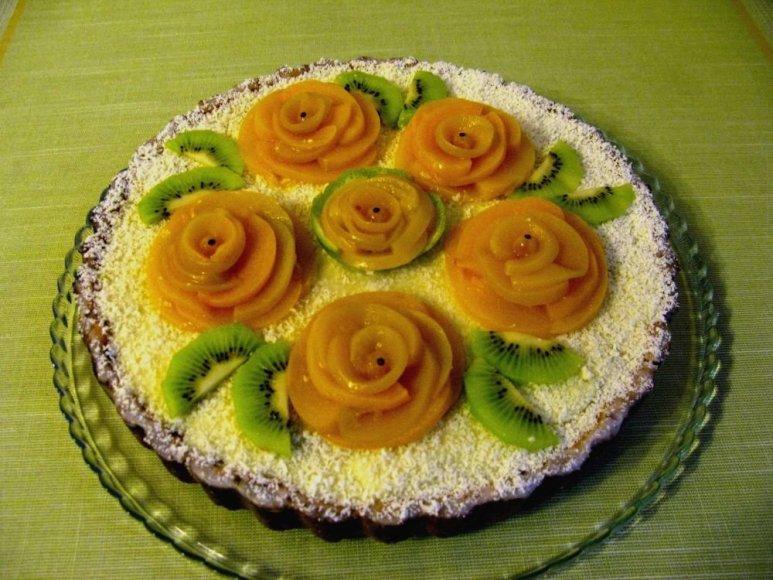 Moliūginis pyragas su panna cotta