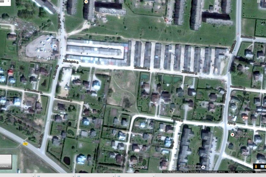 """""""Google maps"""" žemėlapis/Garažai """"Ratas"""" ir """"Pasaga"""""""