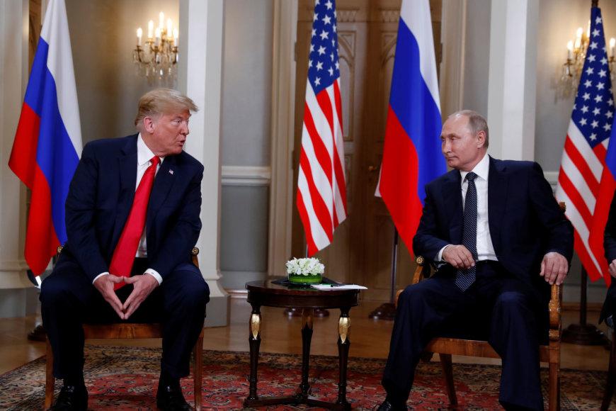 """""""Reuters""""/""""Scanpix"""" nuotr./Helsinkyje susitiko D.Trumpas ir V.Putinas"""