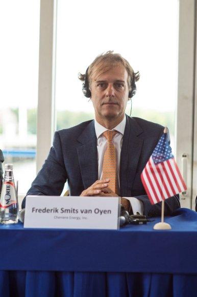 """""""Cheniere"""" Europos, Artimųjų Rytų ir Afrikos regiono pardavimų viceprezidentas Frederikas Smitsas van Oyenas"""