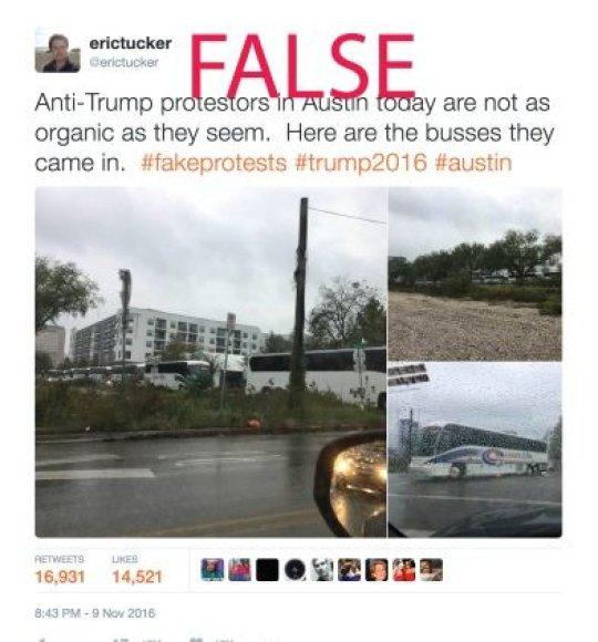 """E.Tuckerio nuotr./Erico Tuckerio dabar jau pašalintos """"Twitter"""" žinutės vaizdas"""