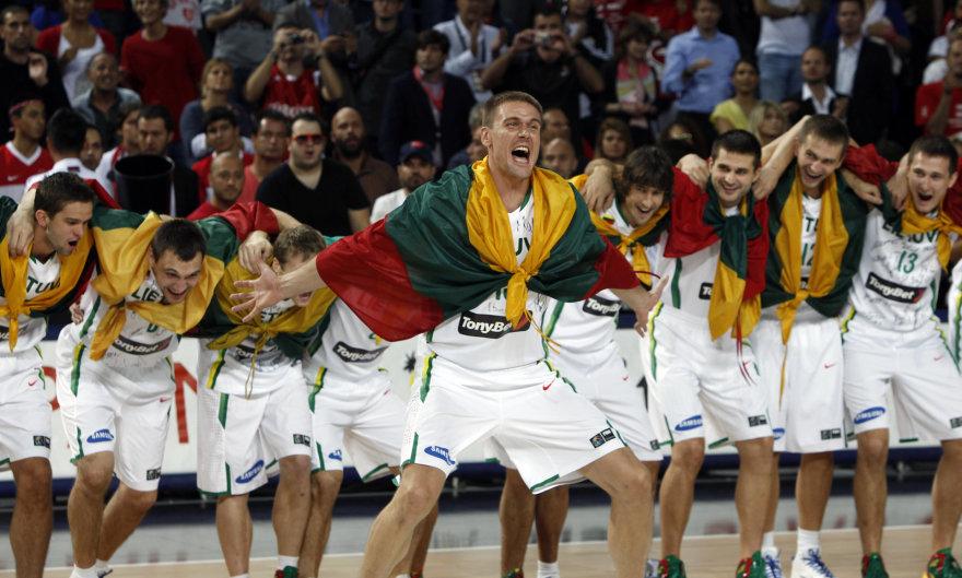 """""""Scanpix"""" nuotr./Lietuvos krepšinio rinktinė 2010 metais pasaulio čempionate iškovojo bronzą."""