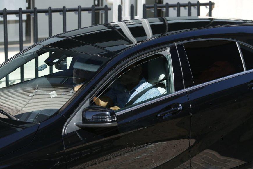 Cristiano Ronaldo šiuo automobiliu atvyko į teismą Madride.