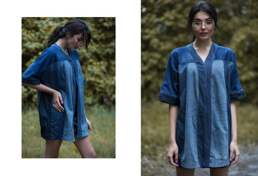 """Roberto Pledo nuotr./""""Lava Design"""" džinsiniai marškiniai-suknelė"""