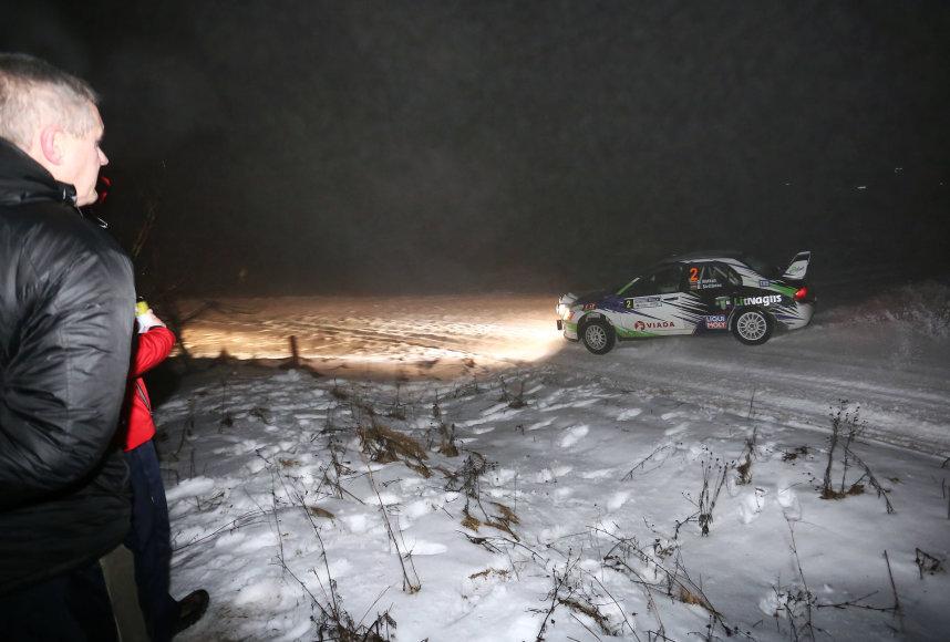 """Aliaus Koroliovo nuotr./ """"Halls Winter Rally 2017"""" 1 greičio ruožas"""