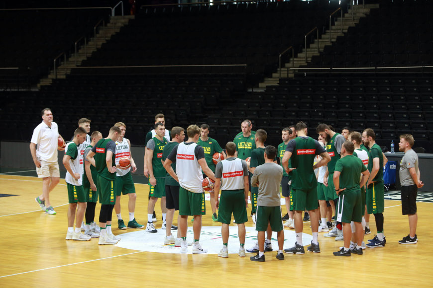Aliaus Koroliovo/15min nuotr./Krepšinio rinktinės treniruotė