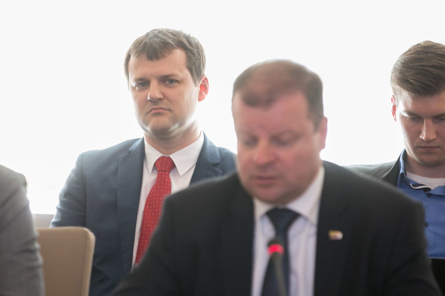 Žygimanto Gedvilos / 15min nuotr./Socialdemokratų pirmininkas Gintautas Paluckas