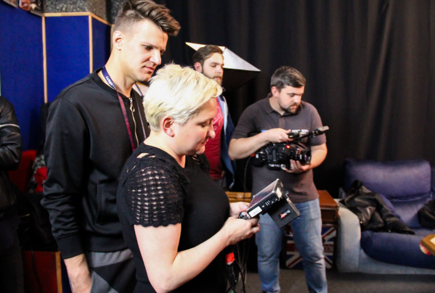 Vyto Nevieros nuotr./Eurovizinio atviruko filmavimo akimirka