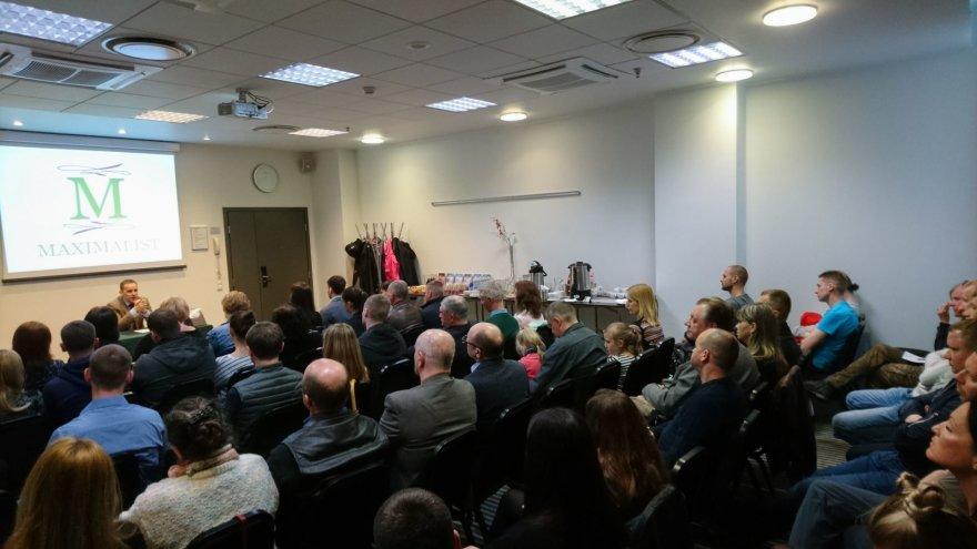 """Užsakovo nuotr./M.G. Maksimaliečio knygos """"Totali Blaivybė ar Totali Kontrolė"""" pristatymas  Vilniuje"""