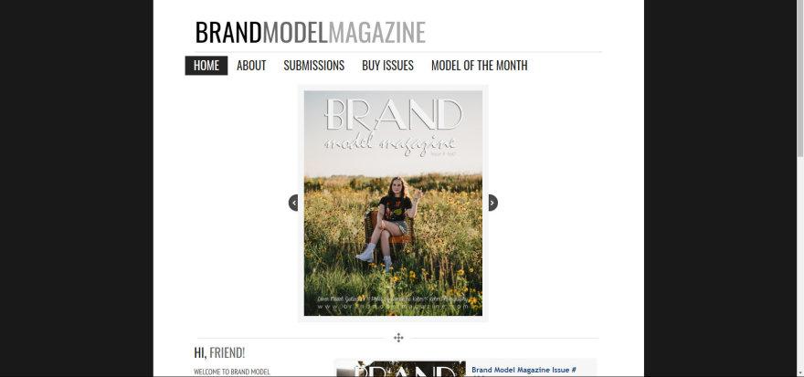 """Printscreen nuotr./""""Brand model magazine"""" žurnalo internetinis puslapis"""