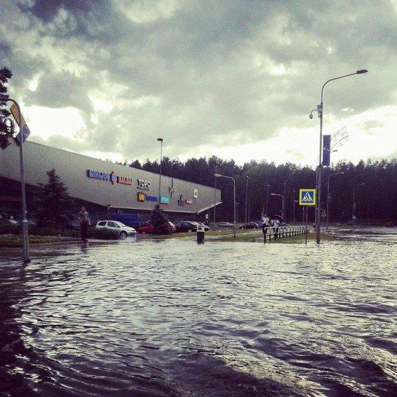 Potvynis Visagine