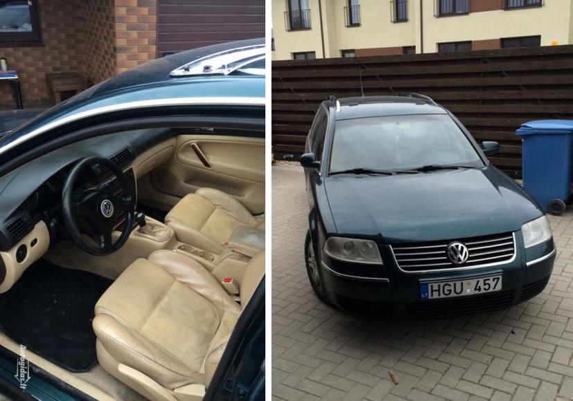 Parduodamas įtariamojo automobilis