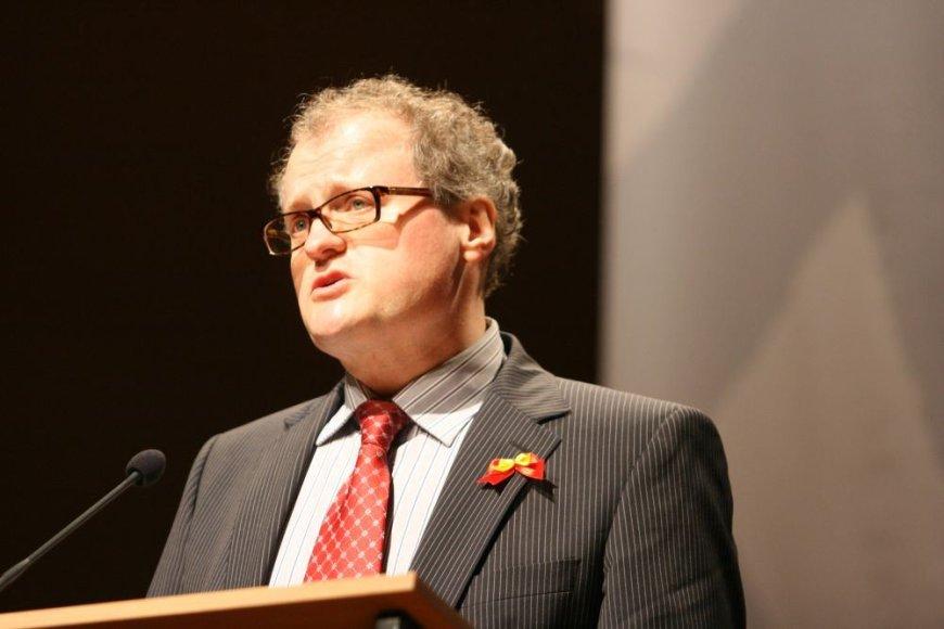 Pagrindinį pranešimą oficialiame miesto posėdyje skaitė europarlamentaras profesorius Leonidas Donskis.